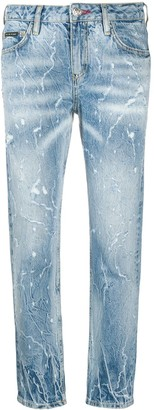 Philipp Plein Washed-Effect Boyfriend Jeans