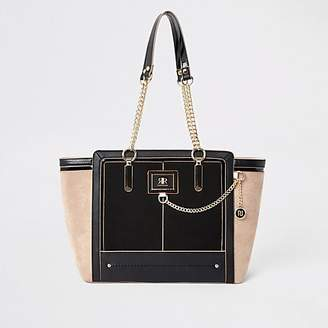 River Island Black chain front winged tote bag