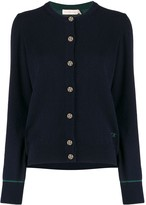 Tory Burch embroidered logo cardigan