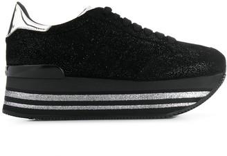 Hogan Glittered Flatform Sneakers