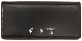Off-White Black Quote Yen Continental Wallet
