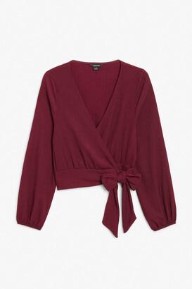 Monki Wrap blouse