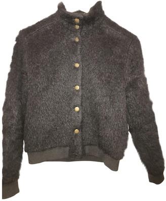 Polder Black Wool Leather Jacket for Women