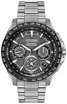 Citizen Cc9015-71e Satellite Wave Titanium Bracelet Strap Watch, Silver/black