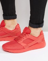 Asos Sneakers in Red Mesh With Rubber Panels