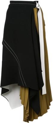 Proenza Schouler Asymmetrical Layered Belted Skirt