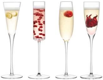 LSA International Lulu Champagne Flute 150-175ml Clear Assorted X 4