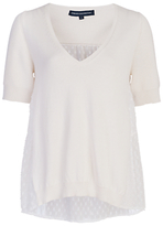 French Connection Bow Fringe Knits Jumper, White