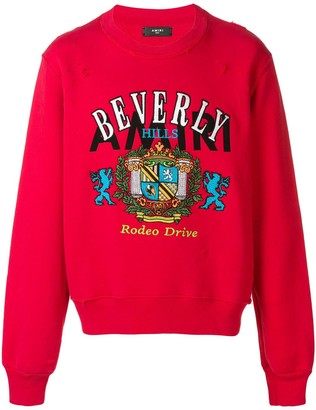 Amiri Beverly Hills embroidered sweatshirt