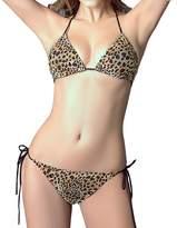Blidece Print Bikini Push up Halter Swimwear 2 Piece M