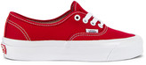 Vans OG Authentic LX in Red & True White | FWRD