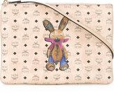 MCM rabbit & logo print clutch - women - Leather - One Size