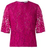 Martha Medeiros - lace blouse - women - Cotton - 46