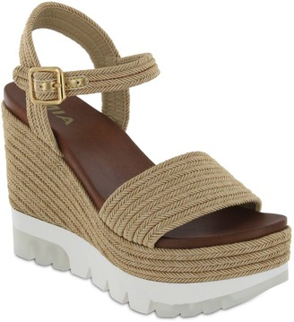 Mia Sneaker Sole Wedge Sandals - Nakita