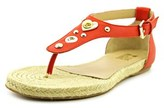 Love Moschino Ja16250g0x Women Open Toe Leather Red Thong Sandal.