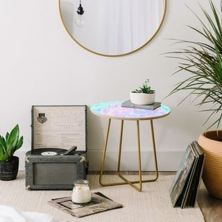 Deny Designs Poolside Side Marble Table