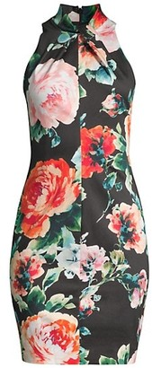 Black Halo Zana Floral Sheath Dress