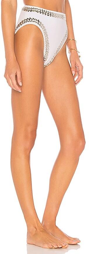 Thumbnail for your product : Norma Kamali Stud Underwire Bikini Bottom
