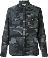 Moncler Gamme Bleu camouflage shirt - men - Cupro/Wool - 2