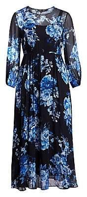 Marina Rinaldi Marina Rinaldi, Plus Size Women's Elegante Floral Print Maxi Chiffon A-Line Dress