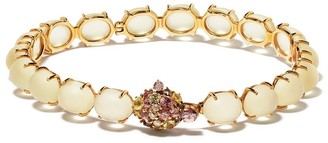Brumani 18kt rose gold Baoba diamond, quartz and sapphire bracelet