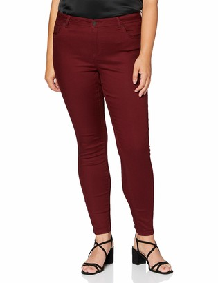 Vero Moda Women's VMTANYA MR S Piping ANK Zip J CLR Color Denim Trousers