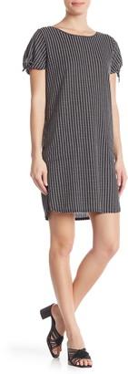 Max Studio Tie Sleeve Checkered Shift Dress
