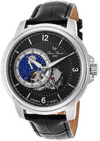 Lucien Piccard 15156-01 Men's Nebula Automatic Black Genuine Leather and Dial