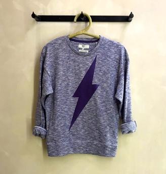 MKT Studio Navy Blue Lightning Sweatshirt - XS (0) | navy blue | cotton - Navy blue