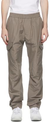 MSGM Grey Ripstop Cargo Pants