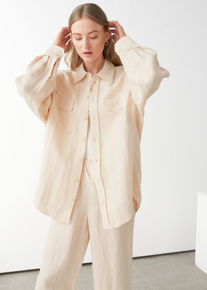 And other stories Oversized Linen Shirt