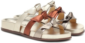 Alexandre Birman Lolita Pool metallic leather sandals