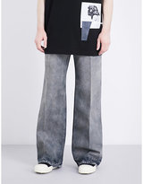 Rick Owens Drkshdw Faded Flared Wide-leg Jeans