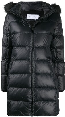 Calvin Klein Hooded Puffer Down Coat