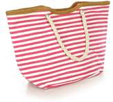 Anytime Scarf Nautical Striped Tote Rope Handles Beach Bag Fashion Tote