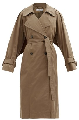 Acne Studios Chino Cape-back Cotton-blend Trench Coat - Beige