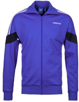Adidas Originals Blue & White Zip Through Track Jacket