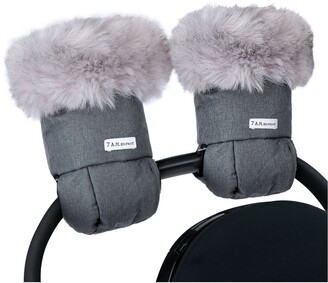 7 A.M. Enfant Tundra Faux Fur Trim Water Repellent Hand Warmer Stroller Muffs