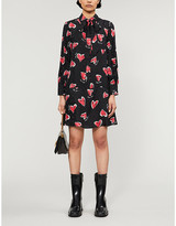 Claudie Pierlot Rocade printed satin-jacquard dress