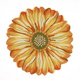 Liora Manné FT1D3A50209 Whimsy Round Flowers Rug, 3', Yellow