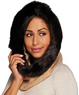 As Is Isaac Mizrahi Live! 2-Ply Cashmere Snood with Faux Fur Trim