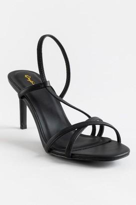 Qupid Backfire Strappy Heel - Black