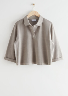 And other stories Cropped Polo Top