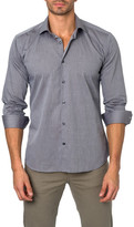 Jared Lang Solid Semi-Fitted Shirt