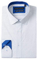 Report Collection Circle Dot Slim Fit Stretch Dress Shirt