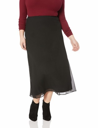 MSK Women's Plus Size Day to Evening A-Line Skirt with an Elastic Waist Band
