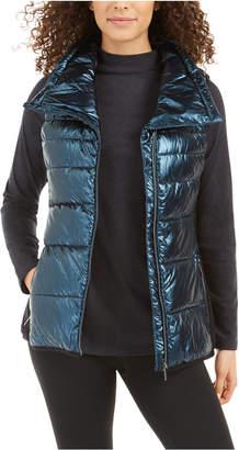 Calvin Klein Metallic Funnel-Neck Puffer Vest