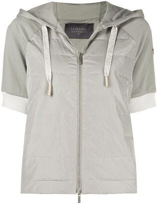 Lorena Antoniazzi Short-Sleeved Hooded Jacket