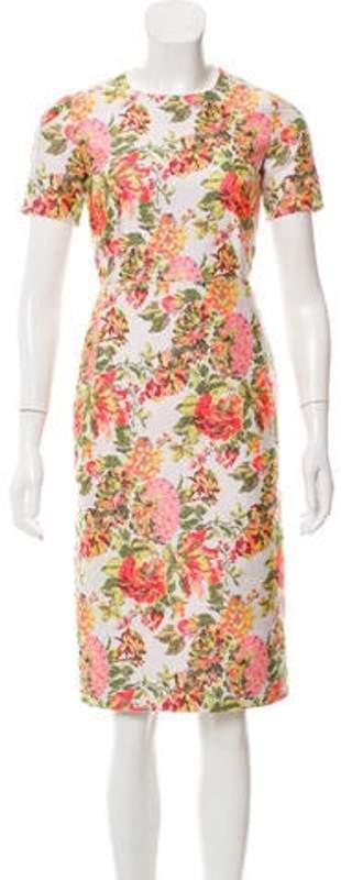 Stella McCartney Floral Pattern Knee-Length Dress White Floral Pattern Knee-Length Dress
