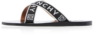 Givenchy Two-Tone Jacquard Sandals